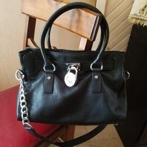 Michael Kors Hamilton black satchel